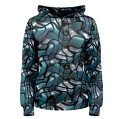 Old Spiderwebs On An Abstract Glass Women s Pullover Hoodie