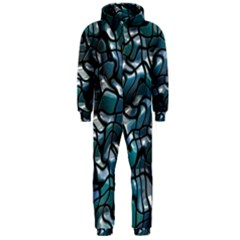 Old Spiderwebs On An Abstract Glass Hooded Jumpsuit (men)