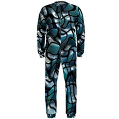 Old Spiderwebs On An Abstract Glass Onepiece Jumpsuit (men)