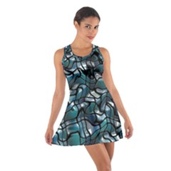 Old Spiderwebs On An Abstract Glass Cotton Racerback Dress