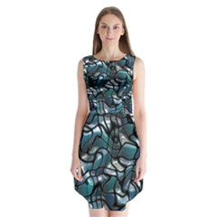 Old Spiderwebs On An Abstract Glass Sleeveless Chiffon Dress