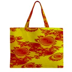 Floral Fractal Pattern Zipper Mini Tote Bag