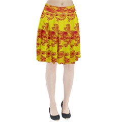 Floral Fractal Pattern Pleated Skirt