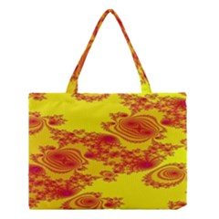 Floral Fractal Pattern Medium Tote Bag
