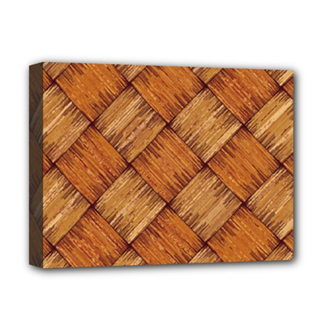 Vector Square Texture Pattern Deluxe Canvas 16  X 12