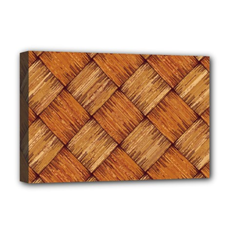 Vector Square Texture Pattern Deluxe Canvas 18  X 12
