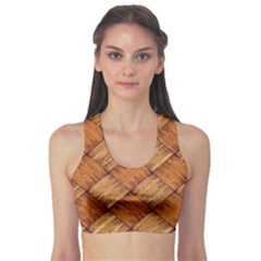 Vector Square Texture Pattern Sports Bra