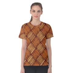 Vector Square Texture Pattern Women s Cotton Tee
