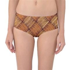 Vector Square Texture Pattern Mid Waist Bikini Bottoms