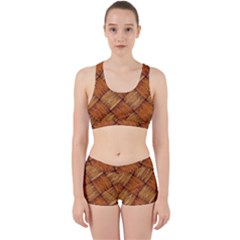 Vector Square Texture Pattern Work It Out Sports Bra Set