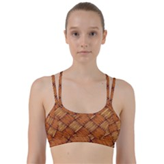 Vector Square Texture Pattern Line Them Up Sports Bra