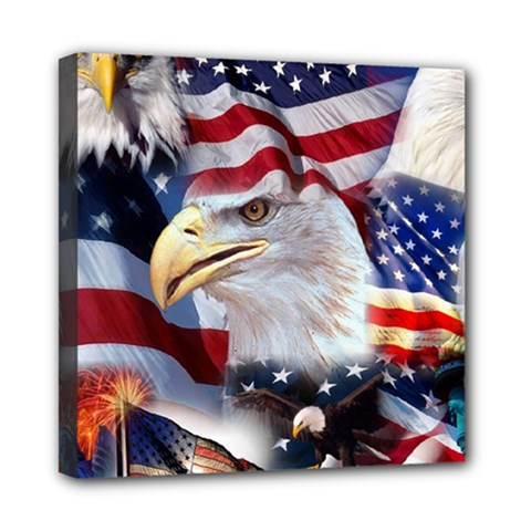 United States Of America Images Independence Day Mini Canvas 8  X 8