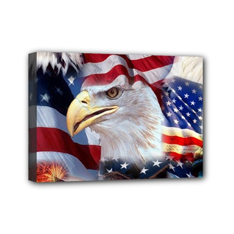 United States Of America Images Independence Day Mini Canvas 7  X 5