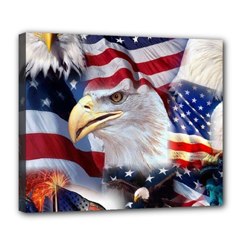 United States Of America Images Independence Day Deluxe Canvas 24  X 20