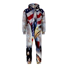 United States Of America Images Independence Day Hooded Jumpsuit (kids)