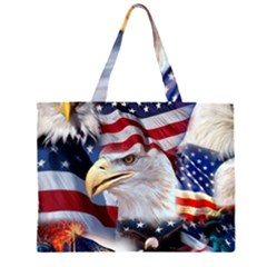 United States Of America Images Independence Day Zipper Large Tote Bag