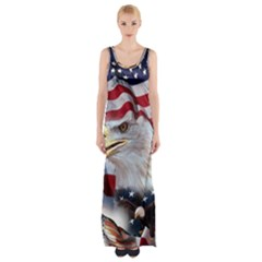 United States Of America Images Independence Day Maxi Thigh Split Dress