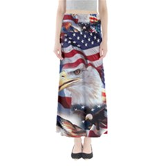 United States Of America Images Independence Day Full Length Maxi Skirt