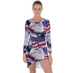 United States Of America Images Independence Day Asymmetric Cut Out Shift Dress