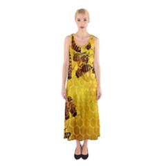Honey Honeycomb Sleeveless Maxi Dress