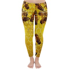 Honey Honeycomb Classic Winter Leggings