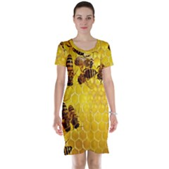 Honey Honeycomb Short Sleeve Nightdress