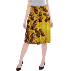 Honey Honeycomb Midi Beach Skirt