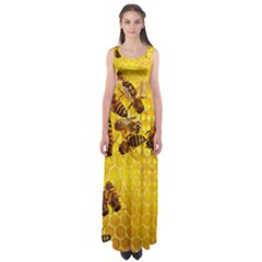 Honey Honeycomb Empire Waist Maxi Dress