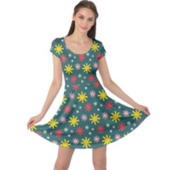The Gift Wrap Patterns Cap Sleeve Dresses