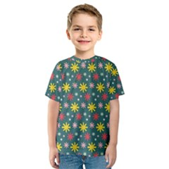 The Gift Wrap Patterns Kids  Sport Mesh Tee