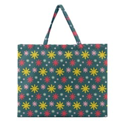 The Gift Wrap Patterns Zipper Large Tote Bag