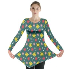 The Gift Wrap Patterns Long Sleeve Tunic