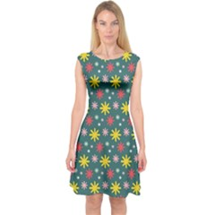 The Gift Wrap Patterns Capsleeve Midi Dress
