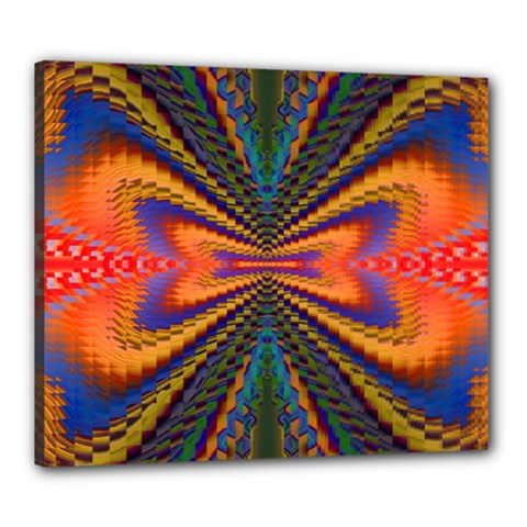Casanova Abstract Art Colors Cool Druffix Flower Freaky Trippy Canvas 24  X 20
