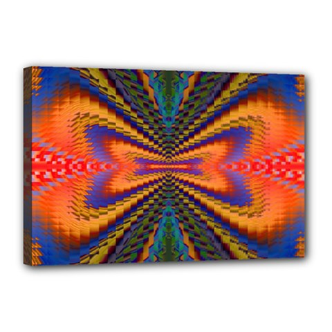 Casanova Abstract Art Colors Cool Druffix Flower Freaky Trippy Canvas 18  X 12