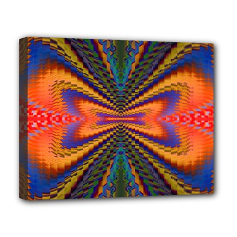 Casanova Abstract Art Colors Cool Druffix Flower Freaky Trippy Deluxe Canvas 20  X 16