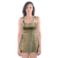 Leopard Face Skater Dress Swimsuit