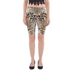 Leopard Face Yoga Cropped Leggings