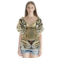 Leopard Face Flutter Sleeve Top