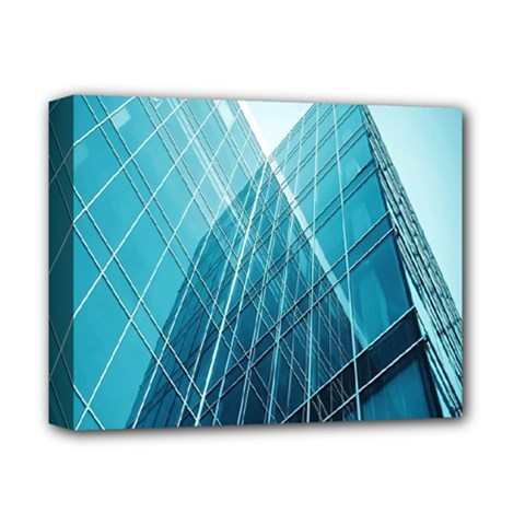 Glass Bulding Deluxe Canvas 14  X 11