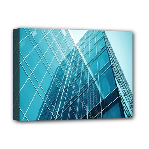 Glass Bulding Deluxe Canvas 16  X 12