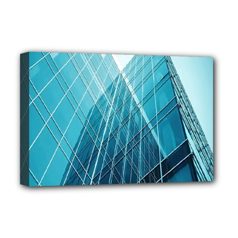 Glass Bulding Deluxe Canvas 18  X 12