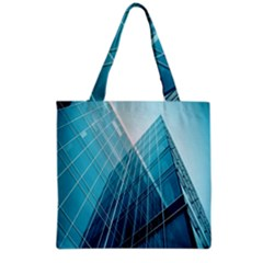 Glass Bulding Grocery Tote Bag