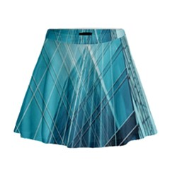 Glass Bulding Mini Flare Skirt