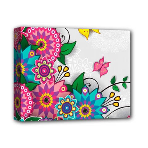 Flowers Pattern Vector Art Deluxe Canvas 14  X 11