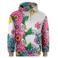 Flowers Pattern Vector Art Men s Pullover Hoodie