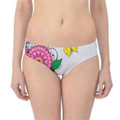 Flowers Pattern Vector Art Hipster Bikini Bottoms