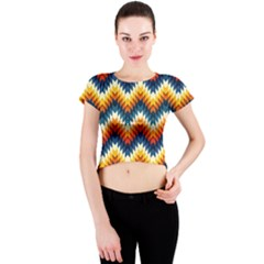 The Amazing Pattern Library Crew Neck Crop Top