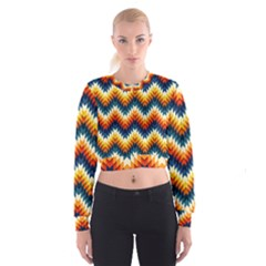 The Amazing Pattern Library Cropped Sweatshirt