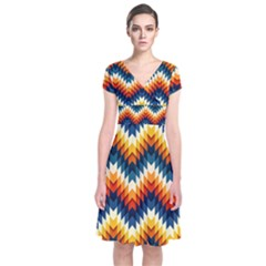 The Amazing Pattern Library Short Sleeve Front Wrap Dress
